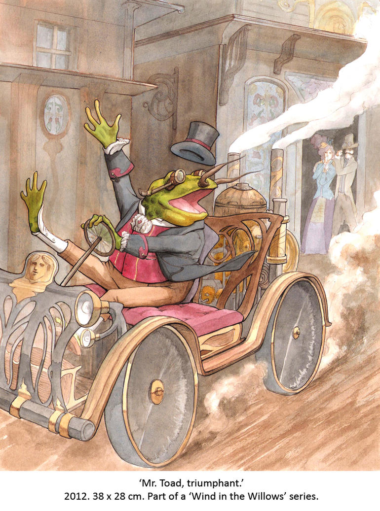 Mr Toad, Triumphant by wovenlines