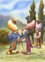 The Croquet Debate by wovenlines
