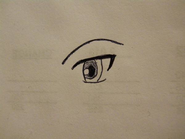 anime eye drawn w a pen xd by papillon p on deviantart. Black Bedroom Furniture Sets. Home Design Ideas