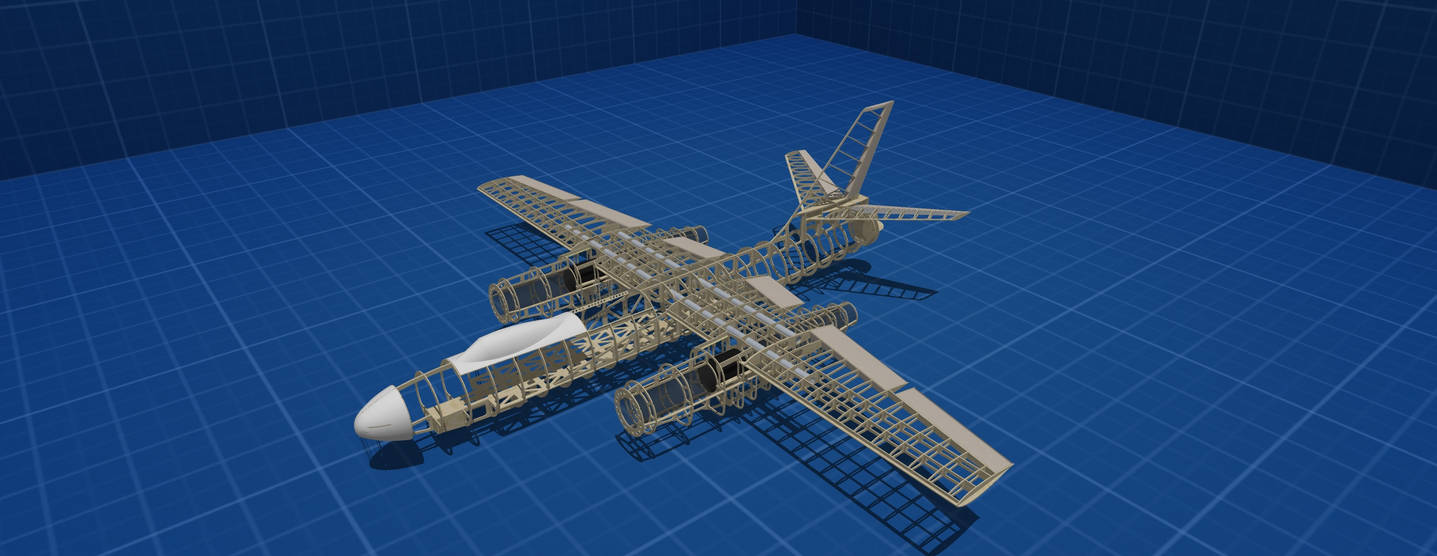IL 28 lasercut kit for build rc plane by customwings on