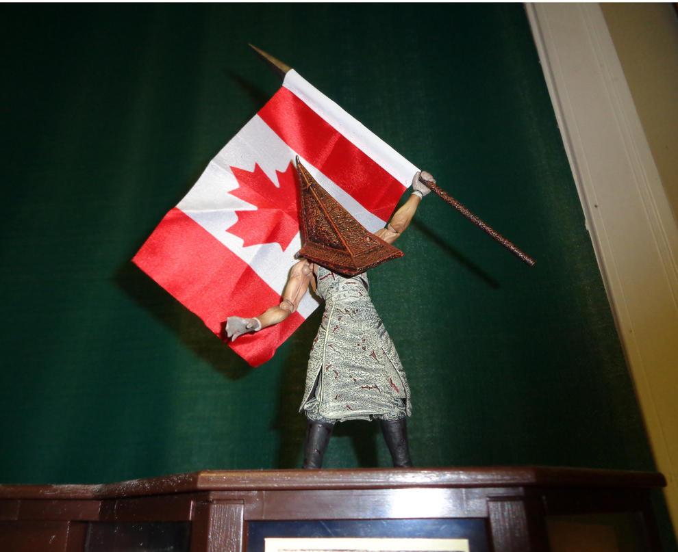Pyramid Head Says: Happy Canada Day by thebloodreaver