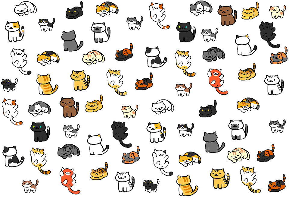 neko atsume background with all 34 non rare cats by dragonmurr on deviantart. Black Bedroom Furniture Sets. Home Design Ideas