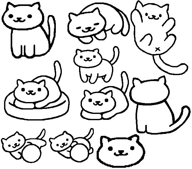 FREE Neko Atsume Line Art by dragonmurr on DeviantArt