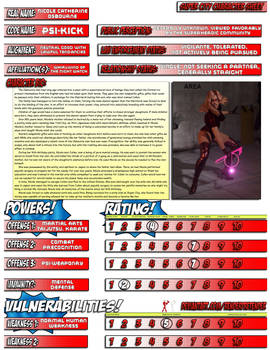 Psi-kick Character Sheet for Super City contest