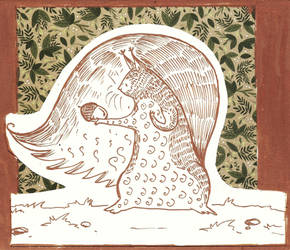 Squirrel by Smoludozerka