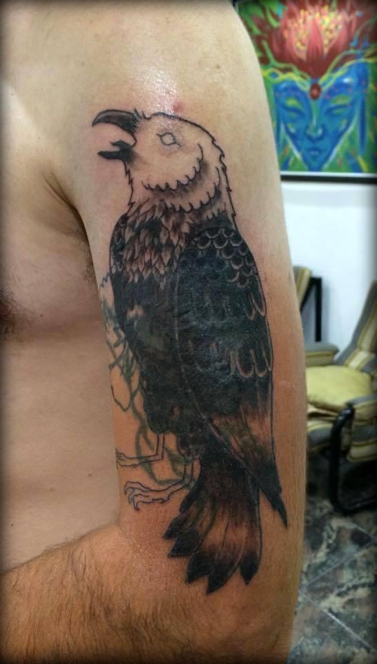 FlowerTiger Crow by ganjatime