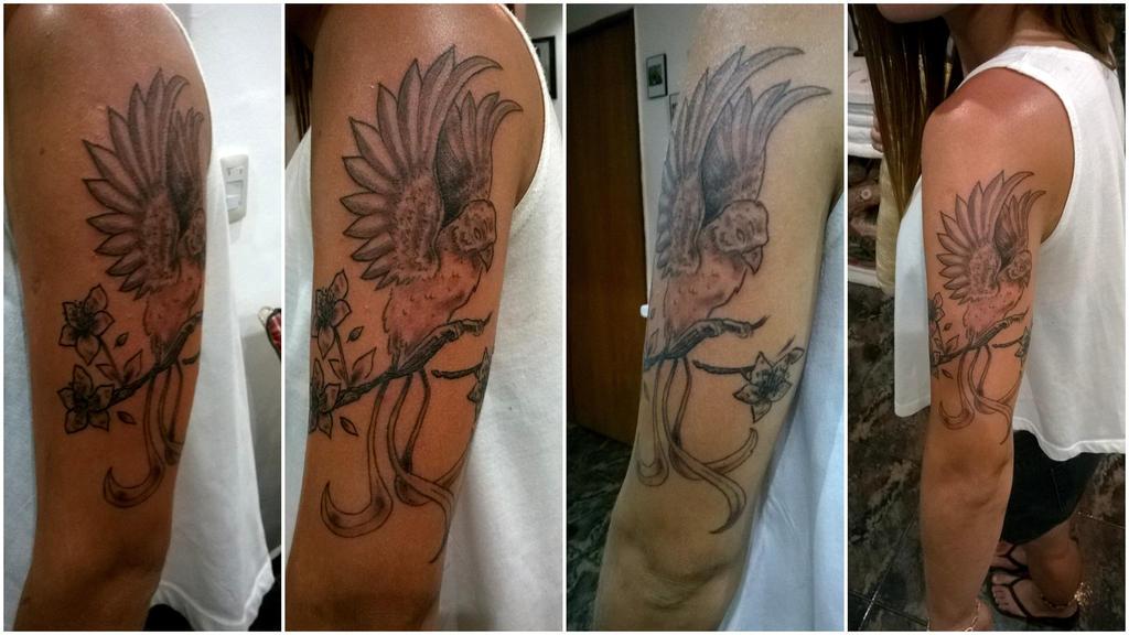 tattoo in progress by ganjatime