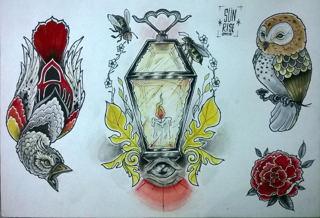 Tattoo Flashhh by ganjatime