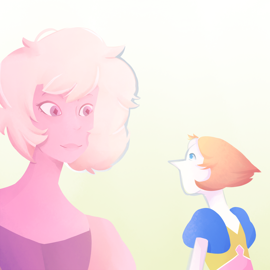 Steven Universe is actually on fire tho Pink Diamond and pearl was so adorable I want to see more