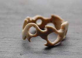 Tribal Bone Ring by heartfullofhell