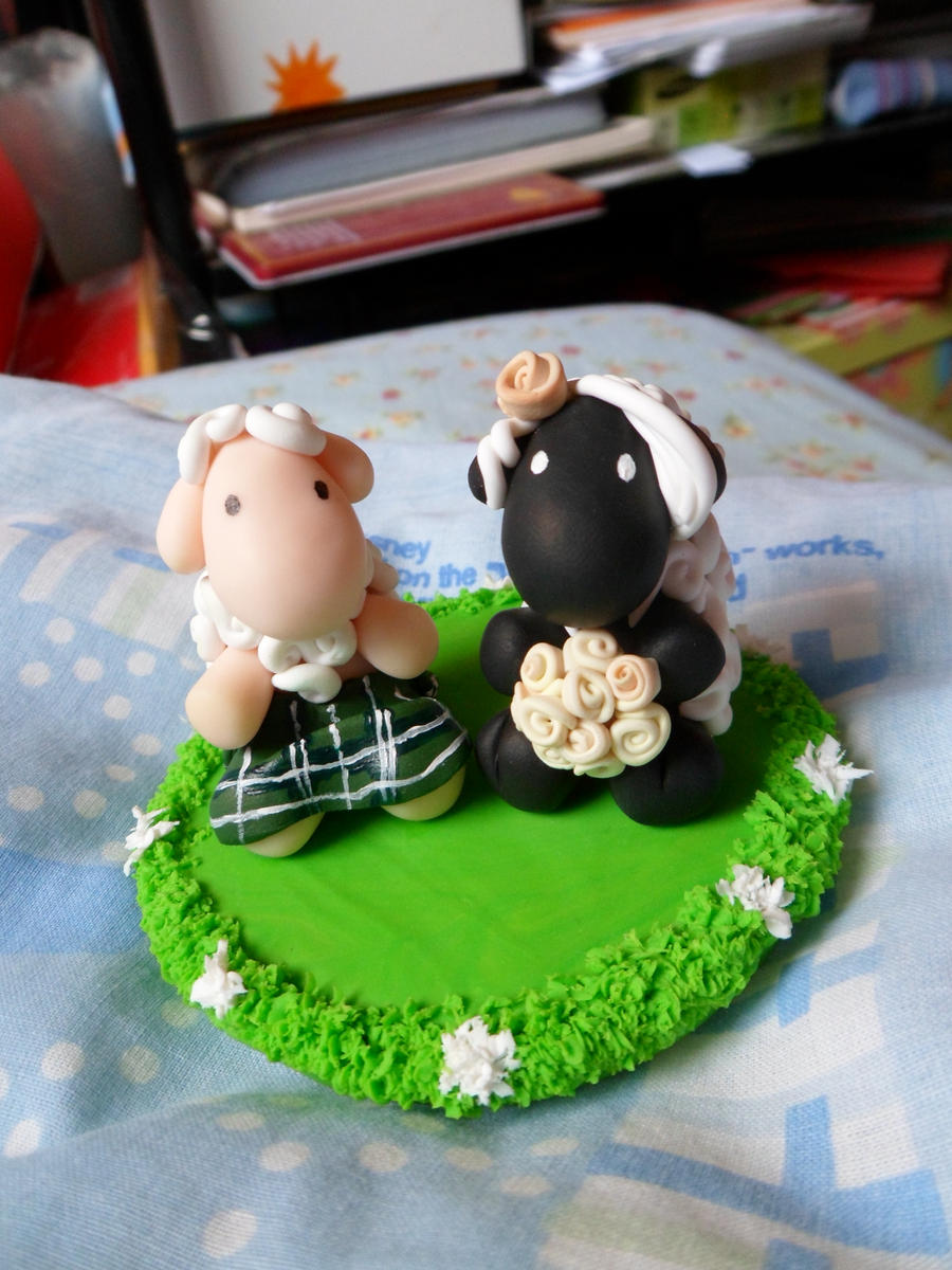 how to make your own clay wedding cake topper& 39