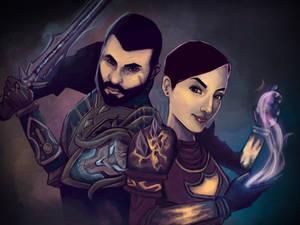 World of Warcraft wedding invitation illustration