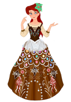 Ariel Gingerbread gown by musicmermaid