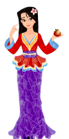 Mulan Christmas gown by musicmermaid