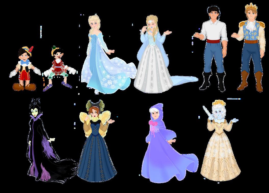 Disney Characters vs  Fairytale Characters III by musicmermaid on