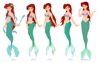 Evolution of Ariel by musicmermaid