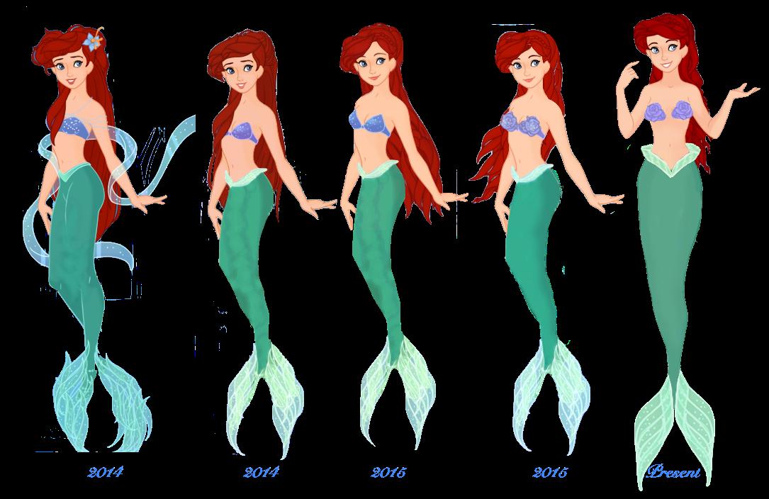 Evolution of Ariel by musicmermaid