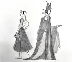 Aurora and Maleficent by musicmermaid