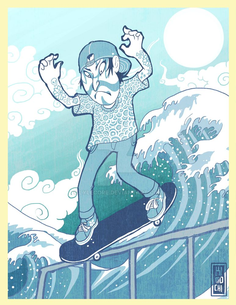 TSUNAMI WAVE SKATING by lylecore