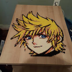 Roxas from Kingdom Hearts Perler Bead Sprite by m0n0xide20
