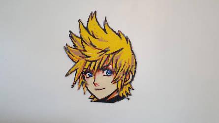 Kingdom Hearts Roxas Peler Bead Sprite by m0n0xide20