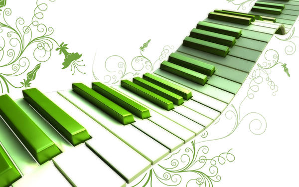 Piano keys all wavy and green by paulwesley222 on DeviantArt