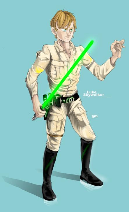 Luke Skywalker by Iwontyouback