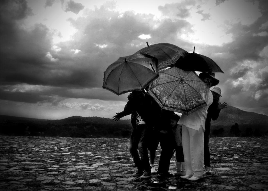 En-familia-bajo-la-lluvia by MrcohAnt
