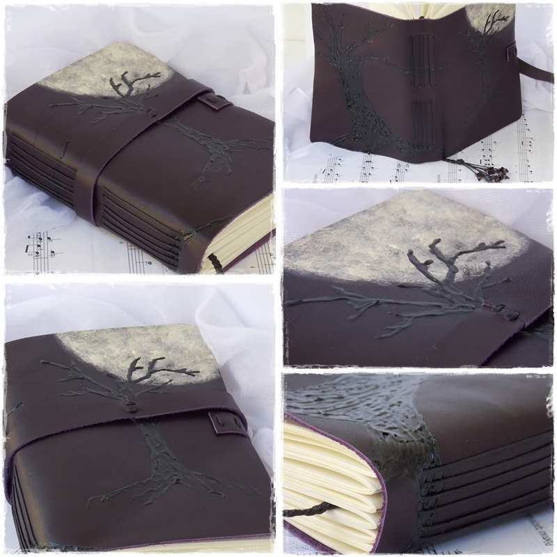 Full Moon Leather Journal by ChrisOnly