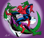 Lizard vs. Spidey in Colour