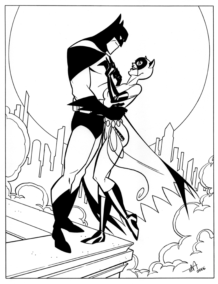 catwoman cartoon coloring pages - photo#20