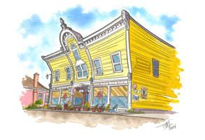 Victoria Harbour Yellow Building - miniature