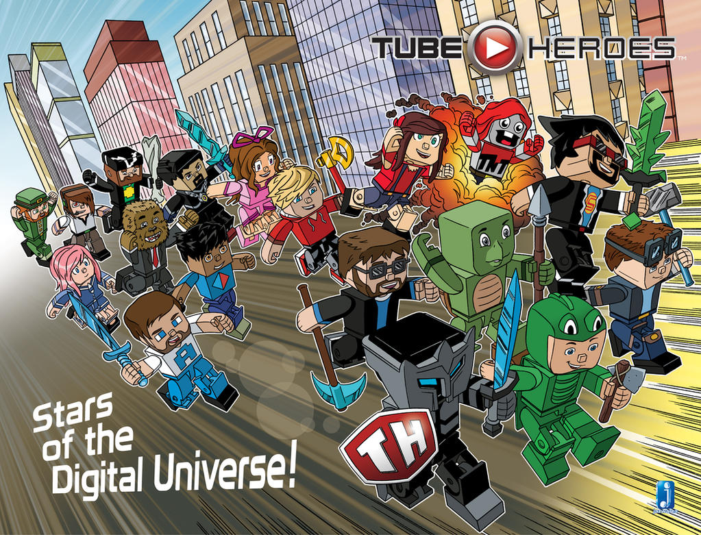 Tube Heroes comic book cover by TimLevins