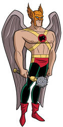 Justice League DCAU Roll Call - Hawkman by TimLevins