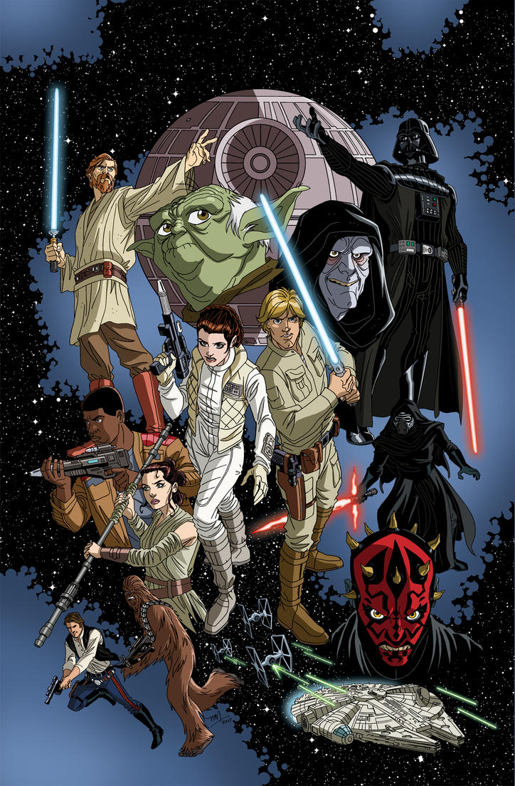 Star Wars Adventures #2 variant cover by TimLevins