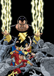 Justice League vs. Black Adam - cover by TimLevins