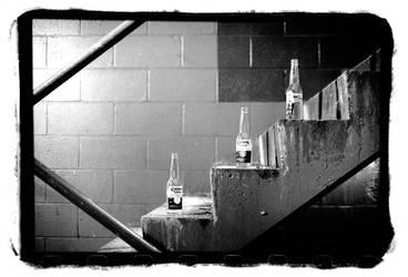 2am parking garage staircase by dersunde