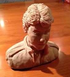 Ted Portrait Sculpture 1 by inzaratha