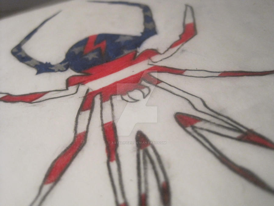 Killjoy spider- stars and stripes by art4life217