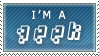 STAMP - I'm A Geek by Bruno-Sensei