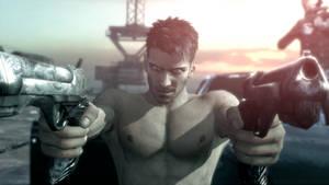 Shirtless Dante and his Guns