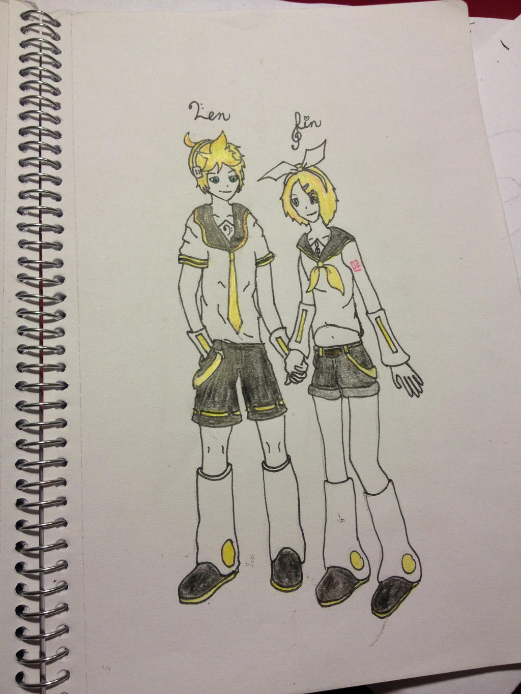 Kagamine Twins :) by xXxAMB3RxXx1