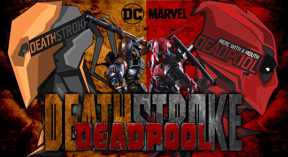 DEATHSTROKE VS DEADPOOL Tribute Wallpaper By RunzaMan