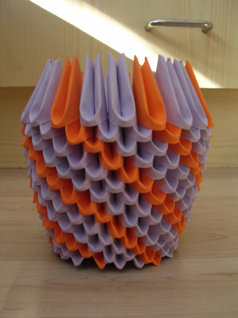 3d origami vase 03 by ketike on deviantart 3d origami vase 03 by ketike reviewsmspy