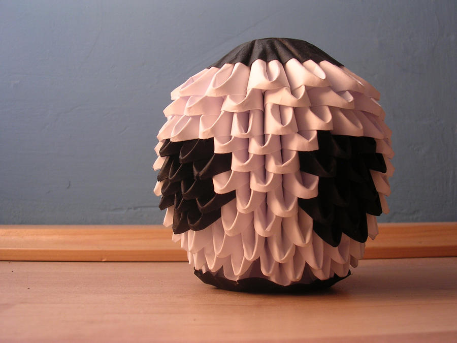 3d origami football by ketike on deviantart