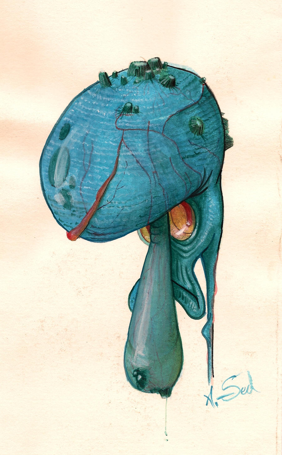 squidward q tentacles by tesseract sect on deviantart
