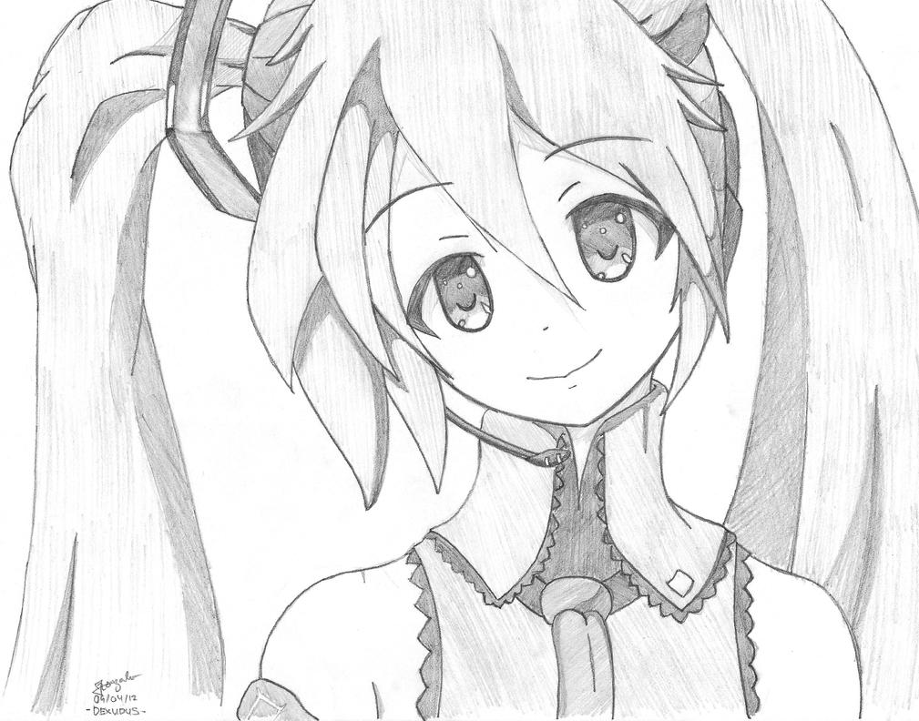 Miku's Kind Eyes and Smile by dexudus on DeviantArt  How To Draw An Anime Smile