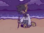 lonely seaside night