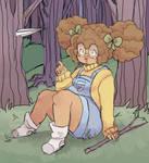 scottie in the woods