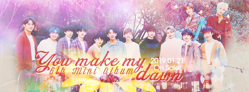 SEVENTEEN You Make My Dawn album banner by oshiotp on DeviantArt